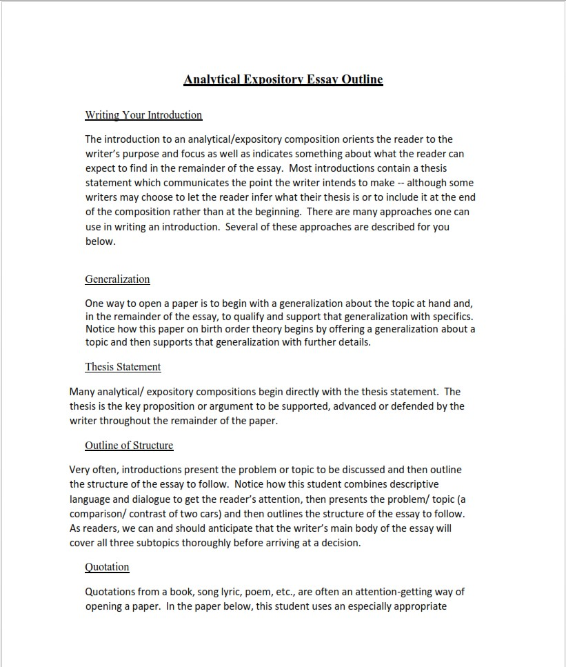 analytical-expository-essay-outline