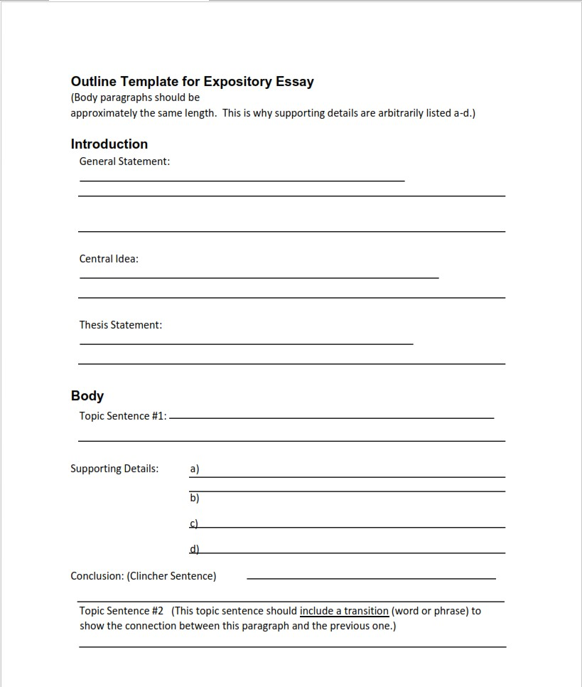 expository-essay-outline-template