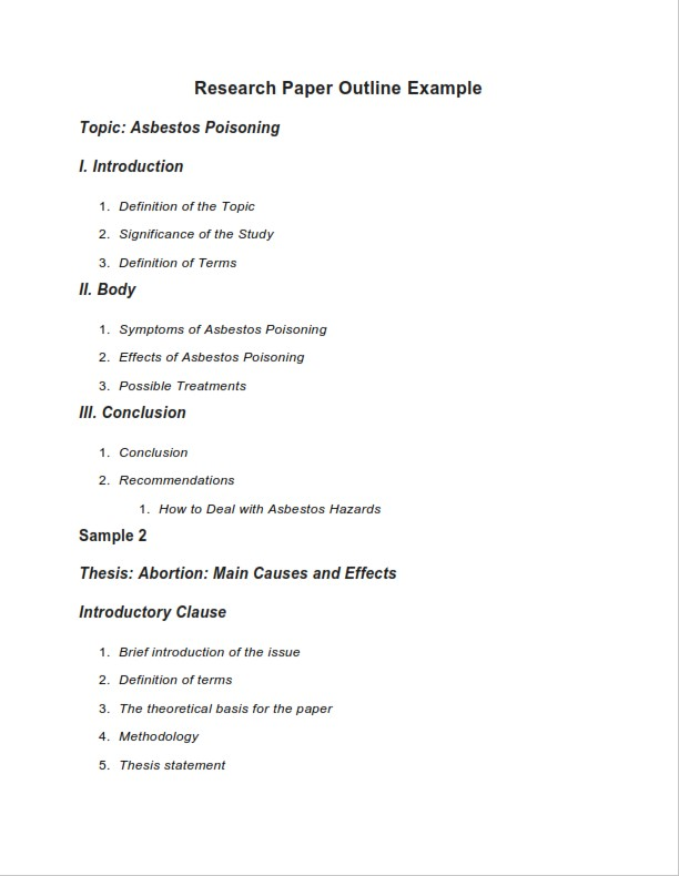 Research Paper Outline (PDF)