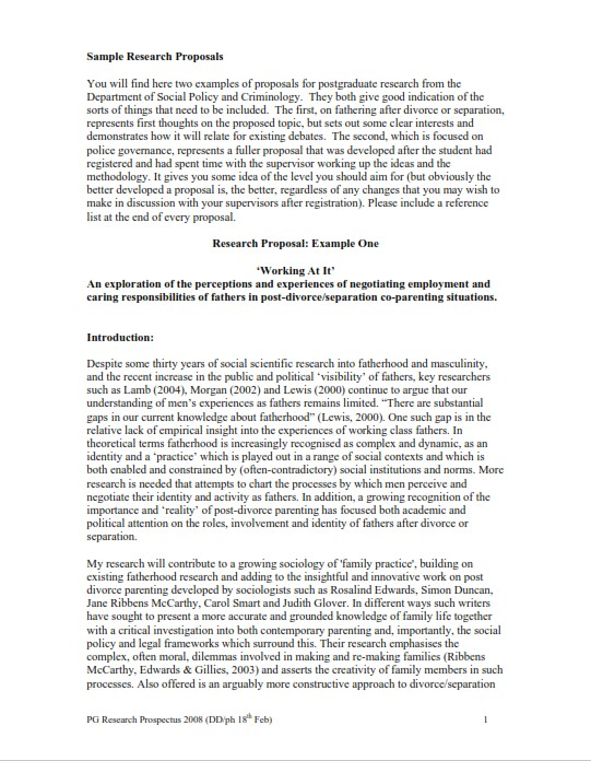 Research Proposal Sample (PDF)