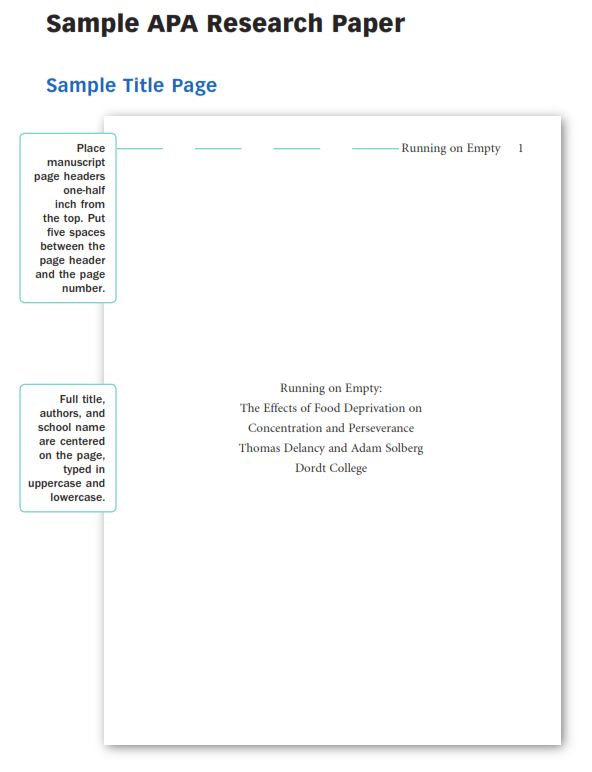 APA Research Paper Outline Example (PDF)