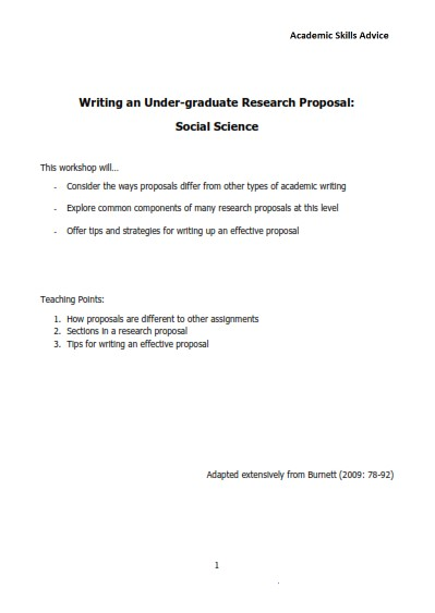Undergraduate Research Proposal Sample (PDF)