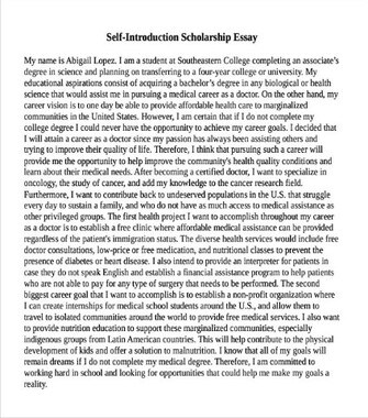 How to Write an Essay about Yourself for a Scholarship