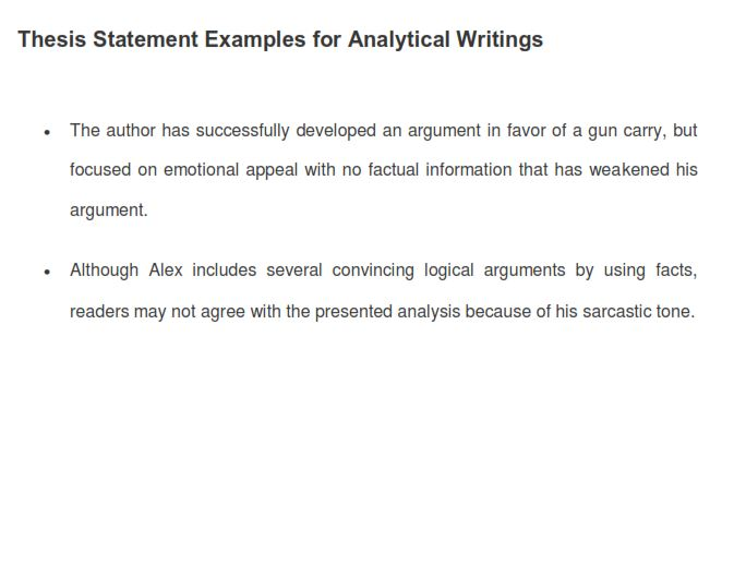 Analytical Thesis Statement (PDF)