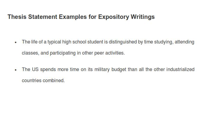 Expository Thesis Statement Example (PDF)