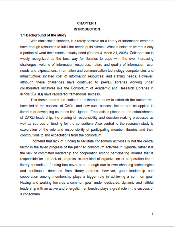 Complete Thesis Writing Sample